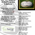 Watch the 6 Nations Live at RHRUFC