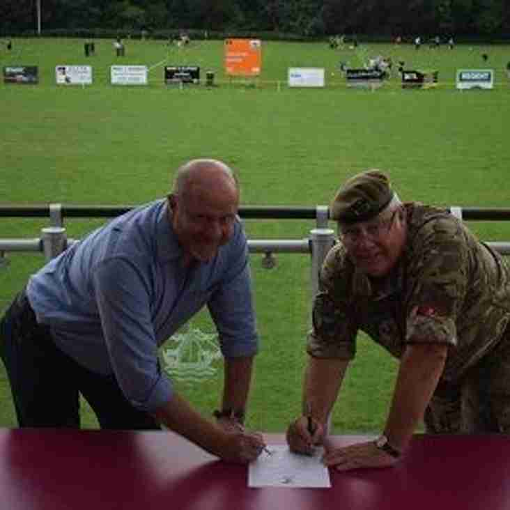 Army Cadets Sign Armed Forces Covenant with Folkestone RFC