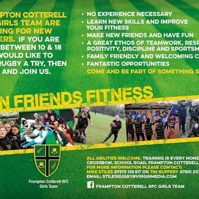 FCRFC Girls Training/Trial Session Sunday 7th January