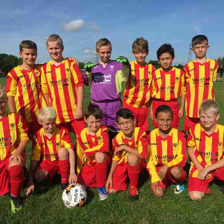 Under 11's promoted to division 2