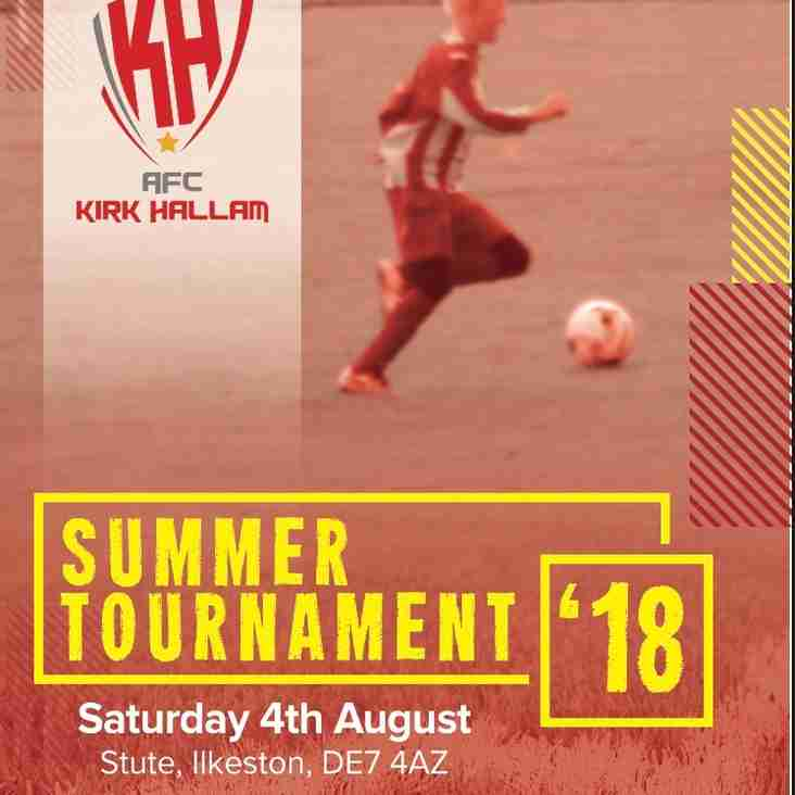 AFC Kirk Hallam Summer Tournament - THIS SATURDAY