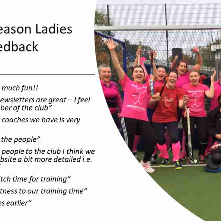 Ladies End of Season Feedback Results