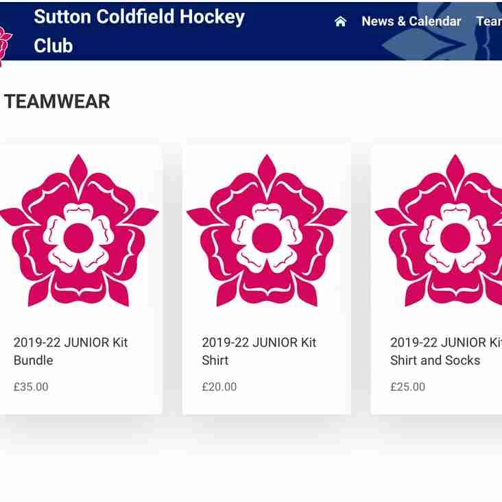 Kit deadline 16 June - Juniors info