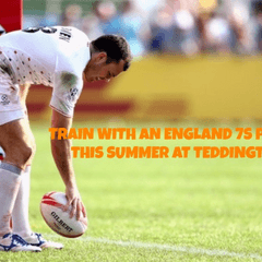 Lions Sports Academy train with England 7's player