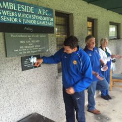 Opening of renovated pitch by Dan Ferguson from the Westmorland FA
