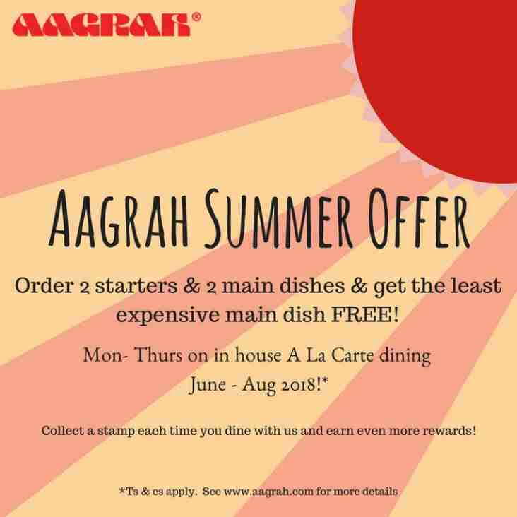 Continue your sizzling summer with Aagrah