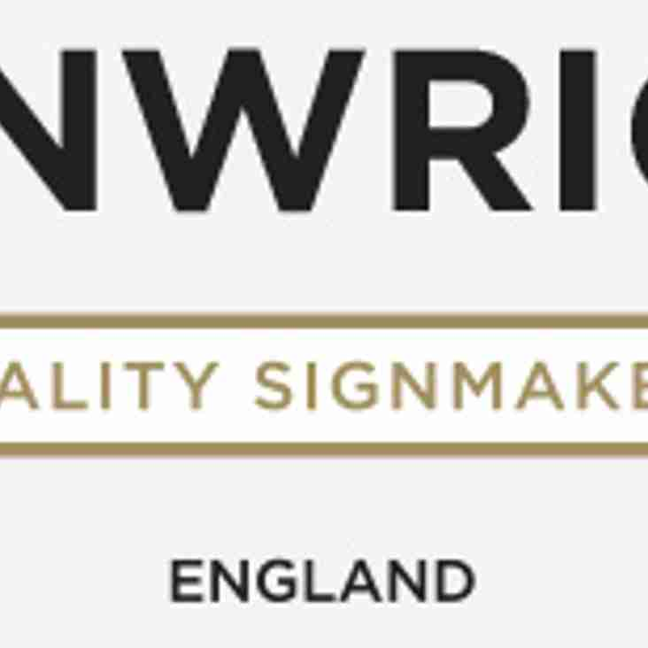 Signwright sign on