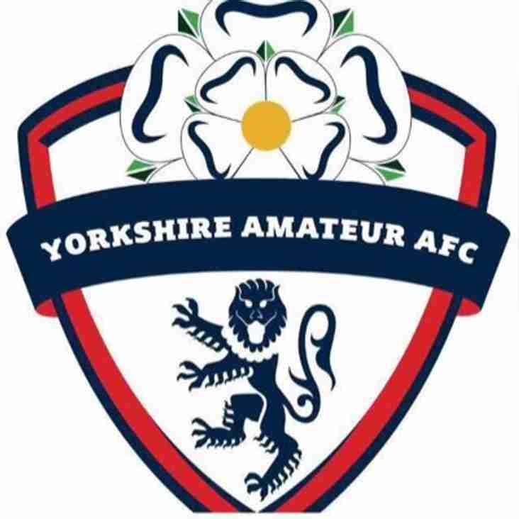 Next game - Yorkshire Amateur (A) Saturday 10th November