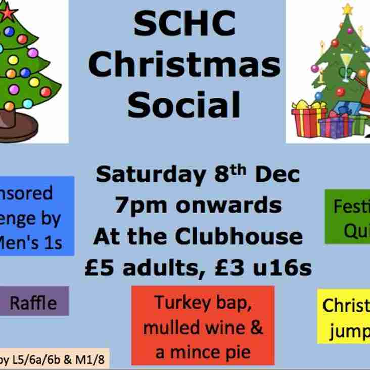 Joint Club Christmas Social - 8th December