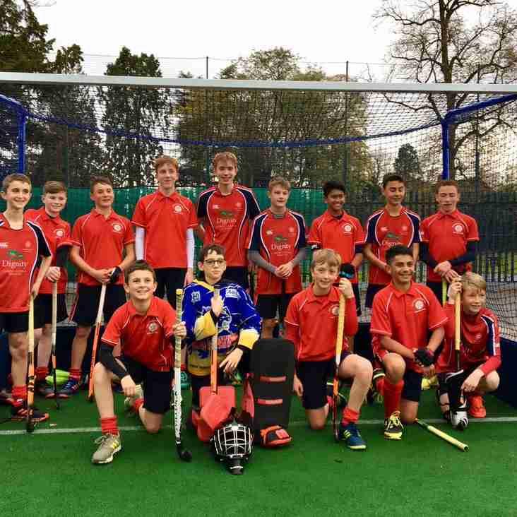 U14 boys battle back to win