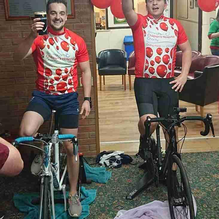 Men's 1XI cycle ride efforts raise hundreds for Birmingham Children's Hospital