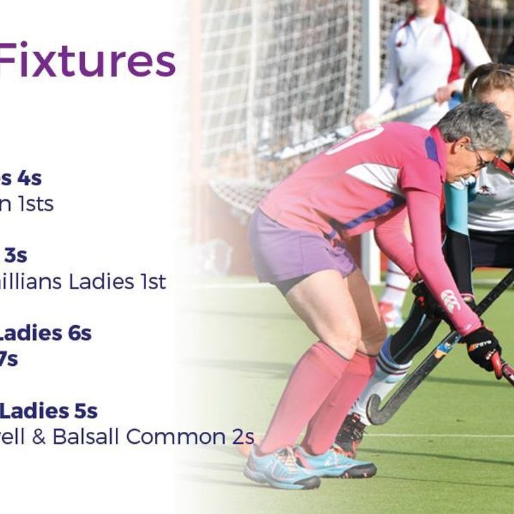 Ladies fixtures for 19th January <