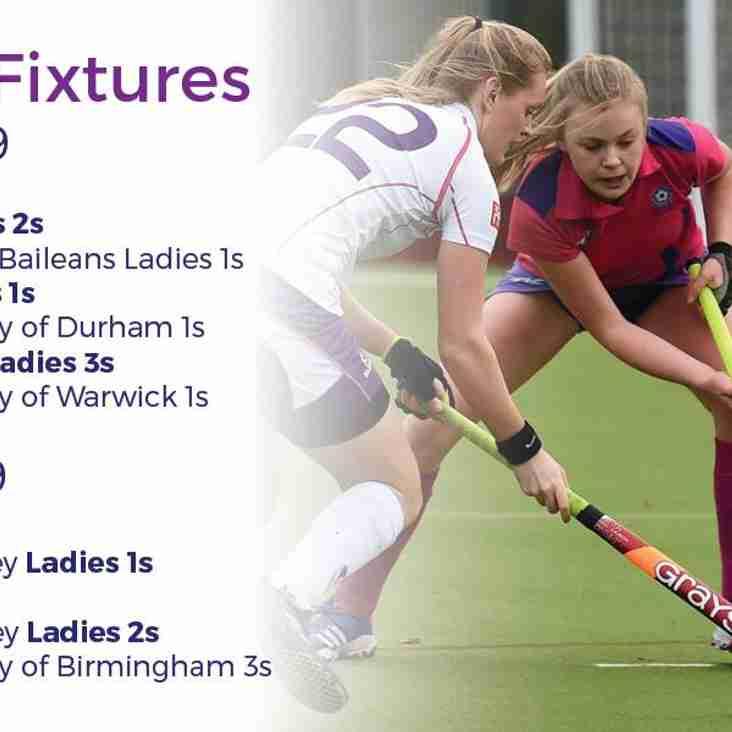 Ladies fixtures 16 & 17 February 2019