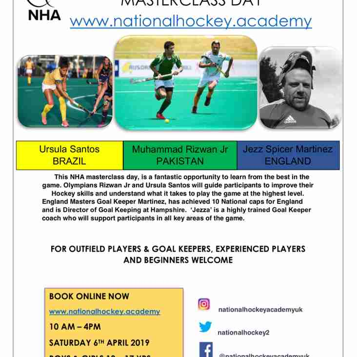 Hockey Masterclass for ages 10-17