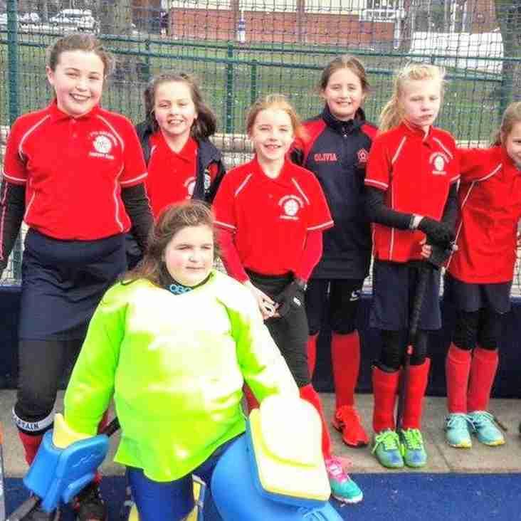 U10 Girls at the Warwickshire In2Hockey tournament