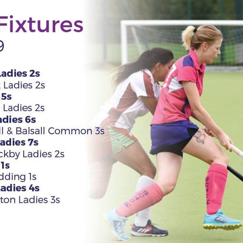 Ladies fixtures 23 March 2019