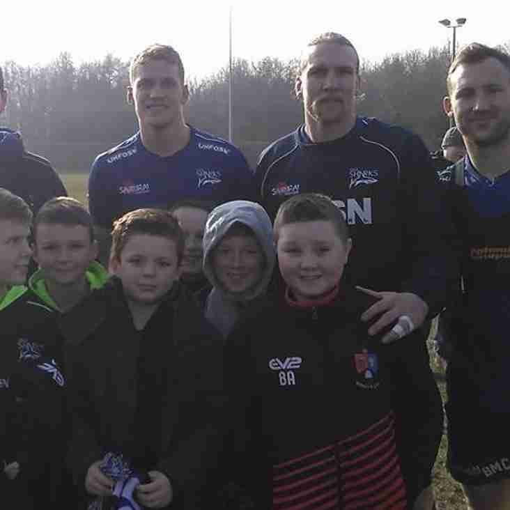 U10s have an away day at Sale Sharks..........