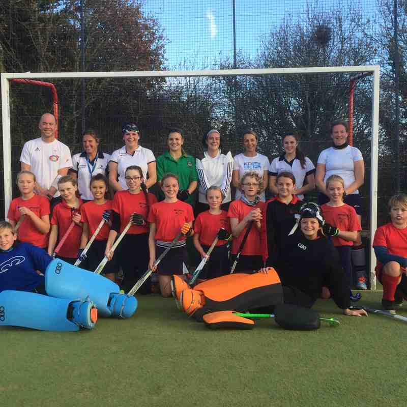 Dec.17 U14s v Ladies 1st XI