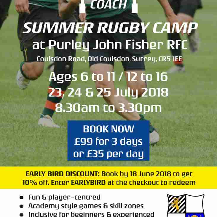 Purley John Fisher RFC - Summer Rugby Camp