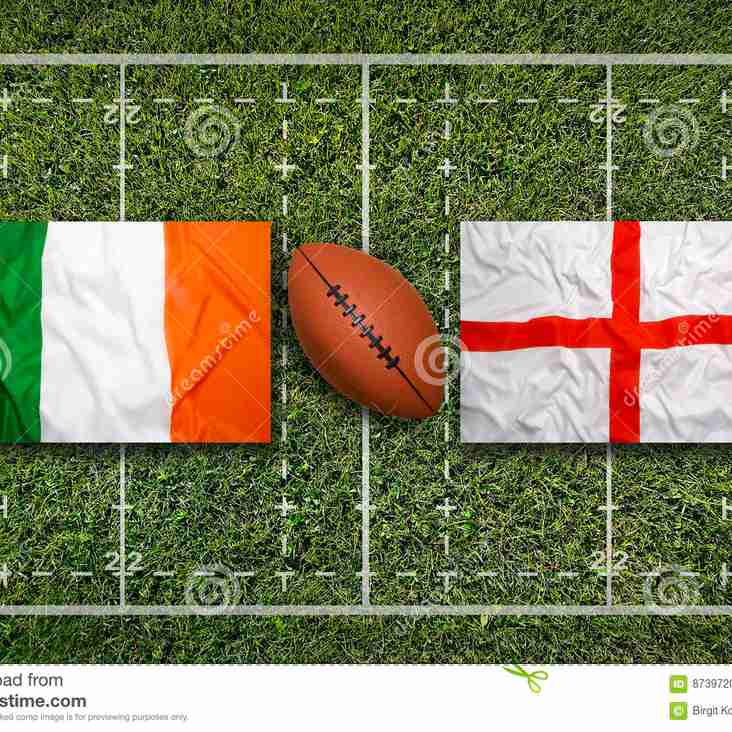 Second team game is off, but Ireland vs England is very much on!