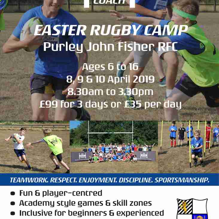Sign up Now for Rugby Camps at the Pightle