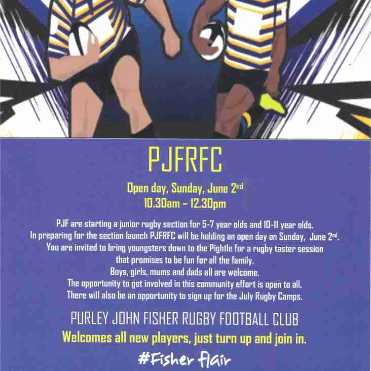 PJF hold introduction to Rugby for minis on June 2nd