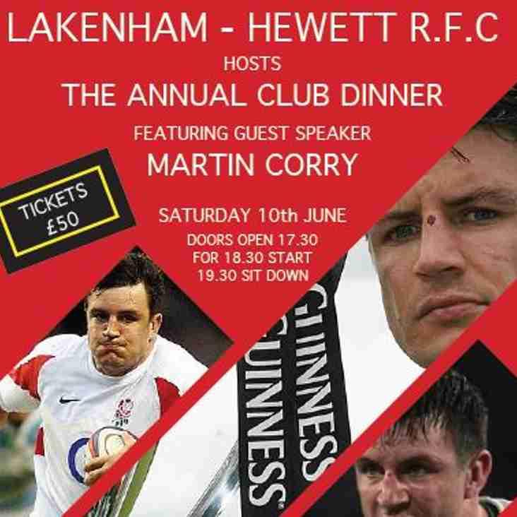 The Annual Club Dinner - June 2017