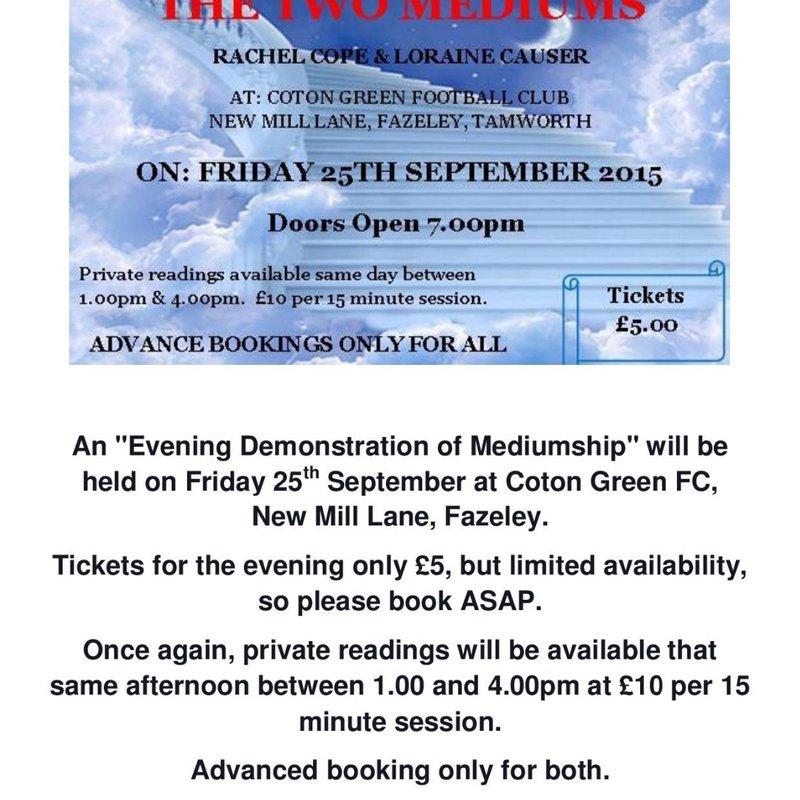 An Evening Demonstration of Mediumship