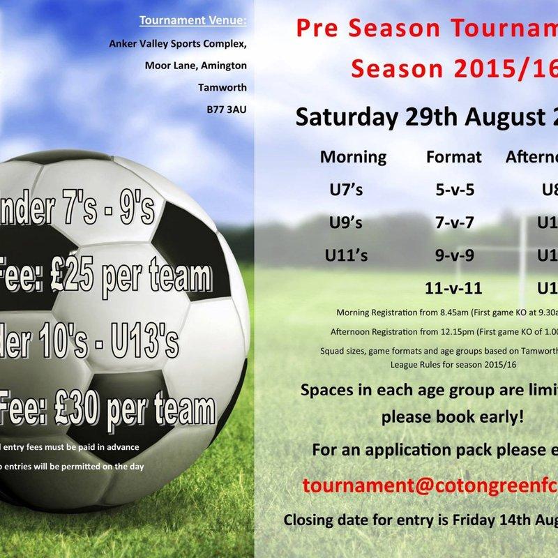 Coton Green Football Tournament