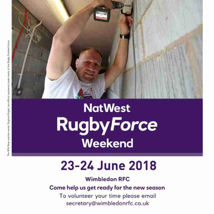 Wimbledon RFC does NatWest Rugby Force 2018!