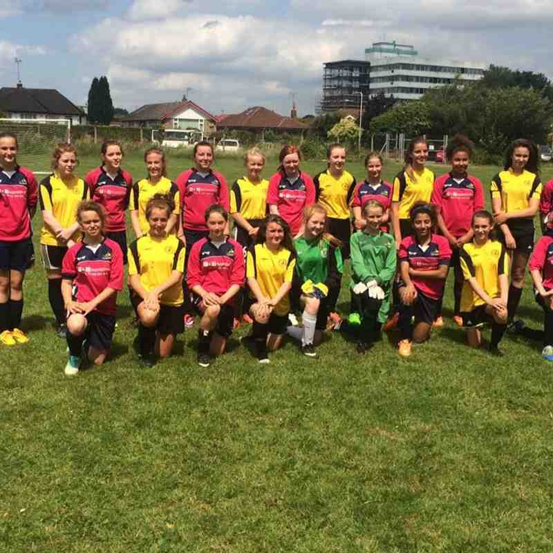 Girls u14 - Belles v Dunkirk LFC - 4th July 2015