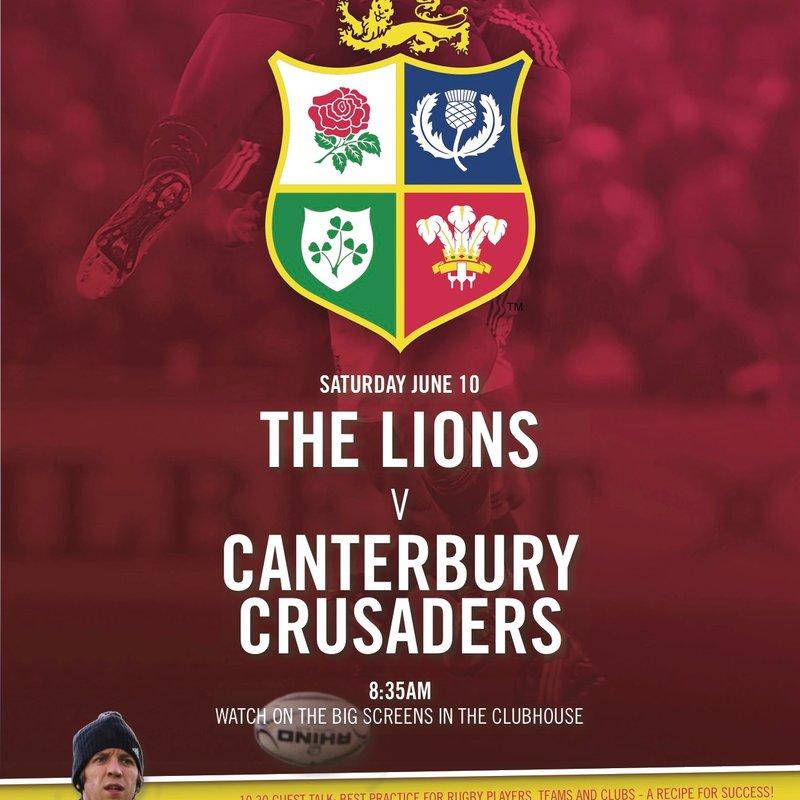 Lions vs Canterbury Crusaders