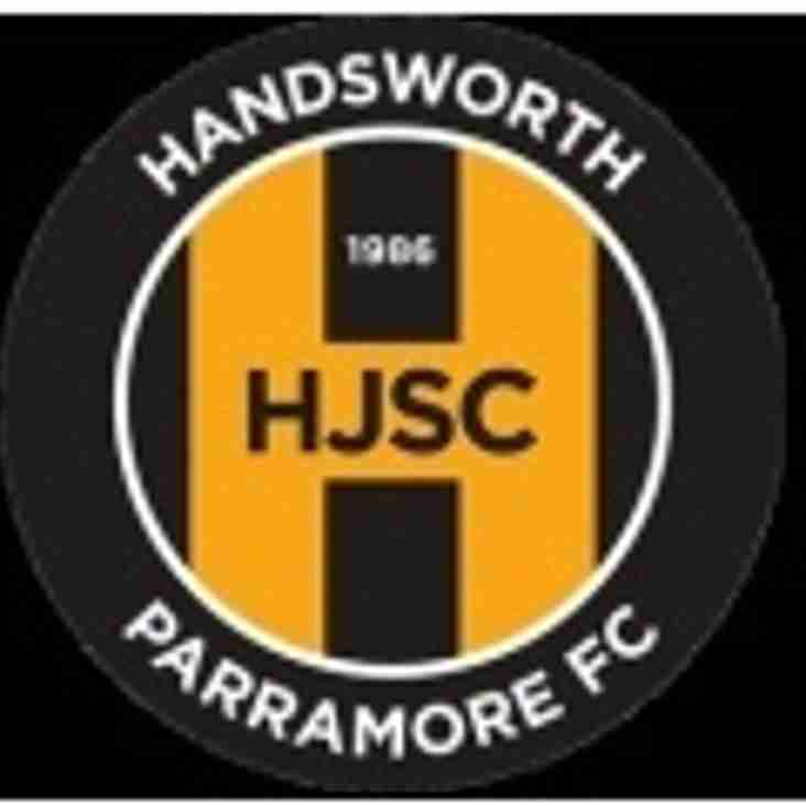 First Team vs Handsworth Parramore (A) - Saturday 27th October