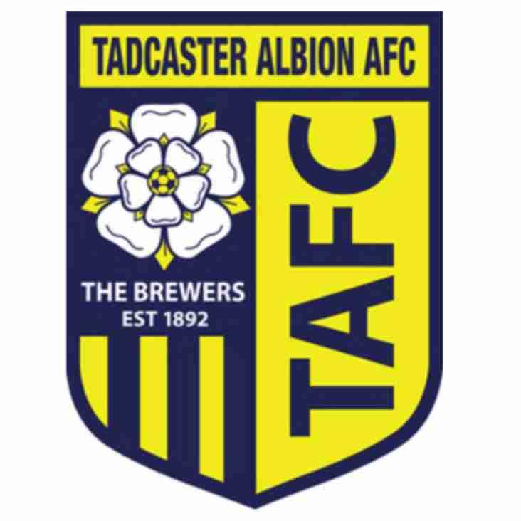Tuesday 4th April - U21s vs Tadcaster Albion (H)