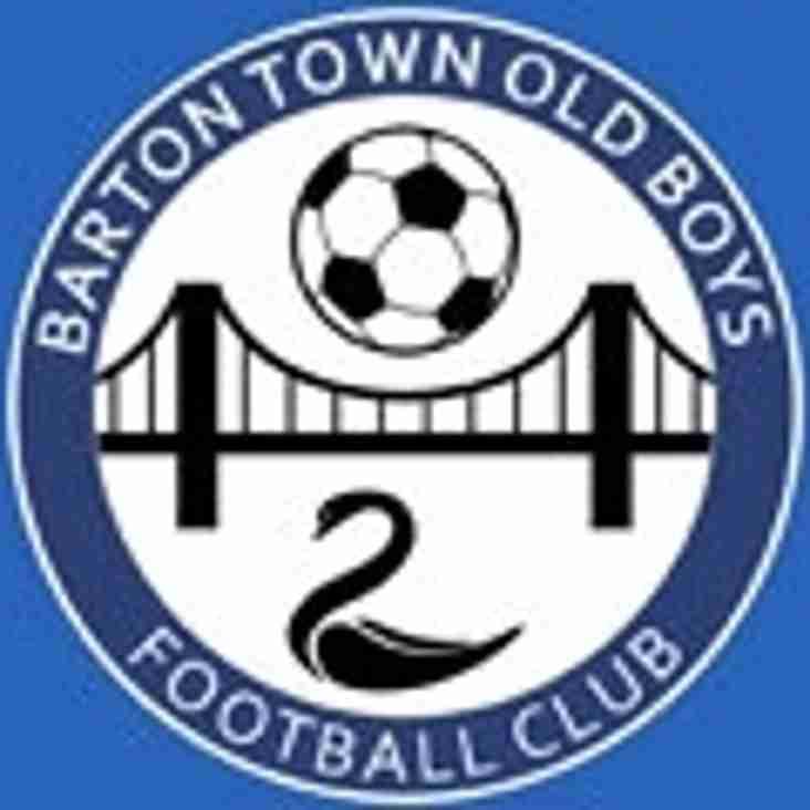 First Team vs Barton Town (A) - Saturday 24th November