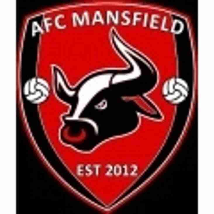 First Team vs AFC Mansfield (A) - Tuesday 21st November