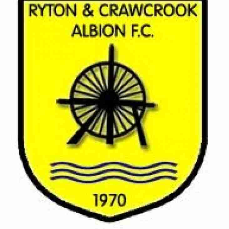 First Team vs Ryton & Crawcrook Albion (A) - Saturday 15th September
