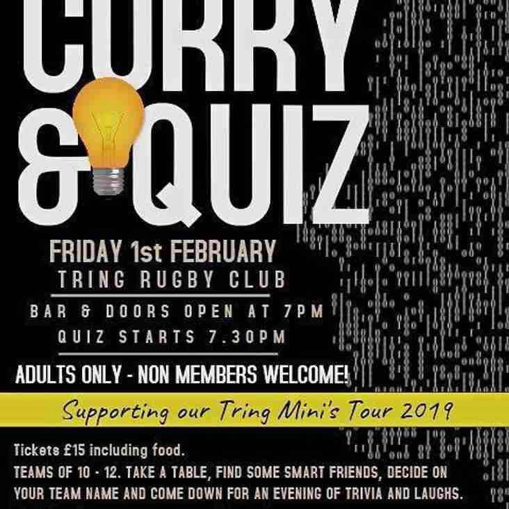Curry and Quiz Night - 1st February