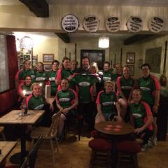 Westbury Ladies receive new shirts from sponsors the Horse & Groom