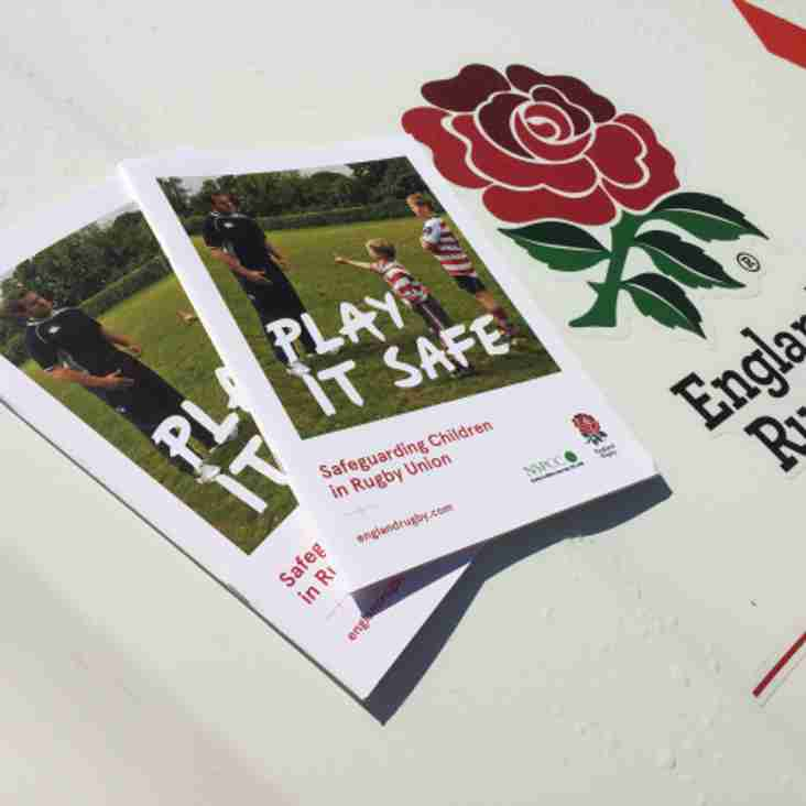 RFU Safeguarding Play it Safe Course - Wednesday 27th September