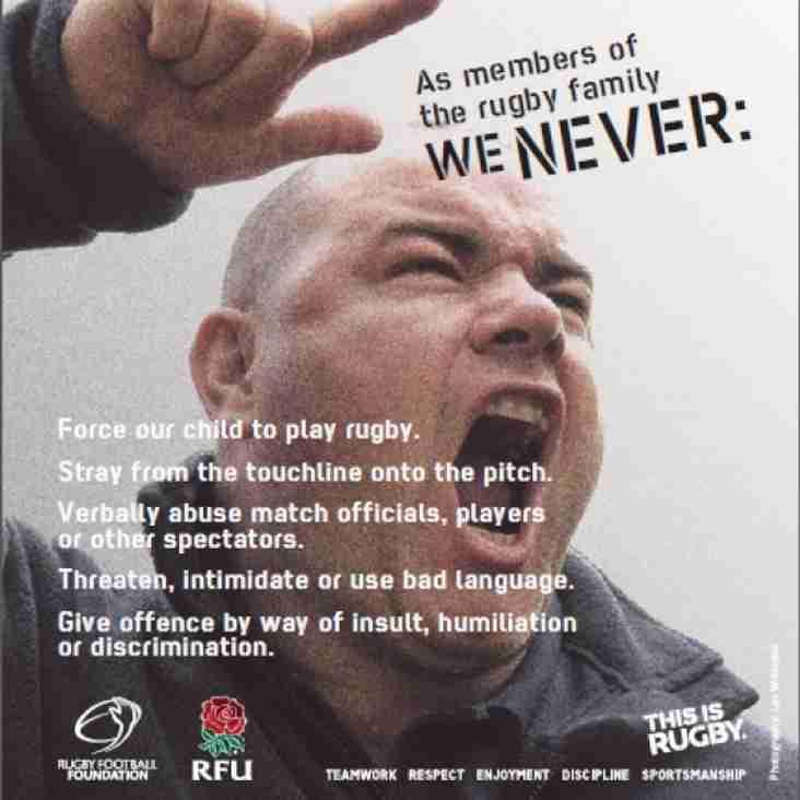 RFU Touchline Behaviour - We Never