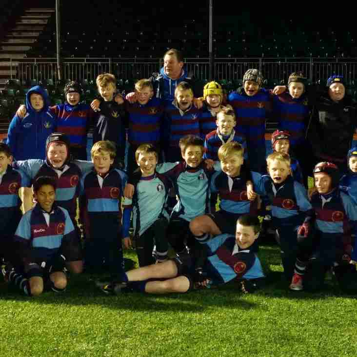 Stags U11 win at the home of Saracens