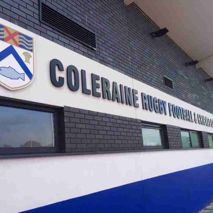 ALL THE ACTION AT COLERAINE RFCC THIS WEEK