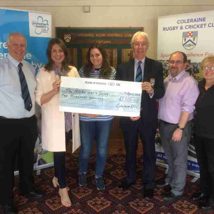 Coleraine RFCC supporting Alzheimer's