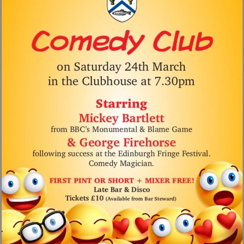 Members: Comedy night at Coleraine RFCC