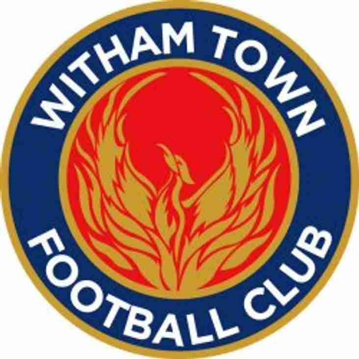 Witham Town to play at the Simarco Stadium