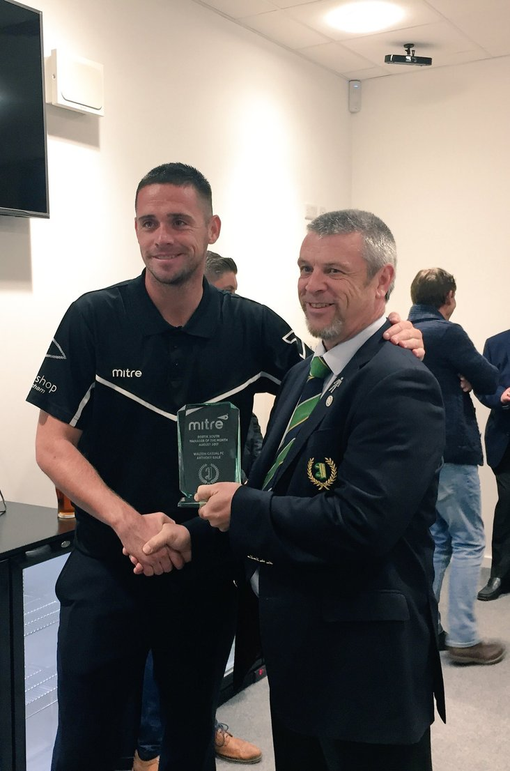 Anthony Gale- Mitre Manager of the Month- August 2017