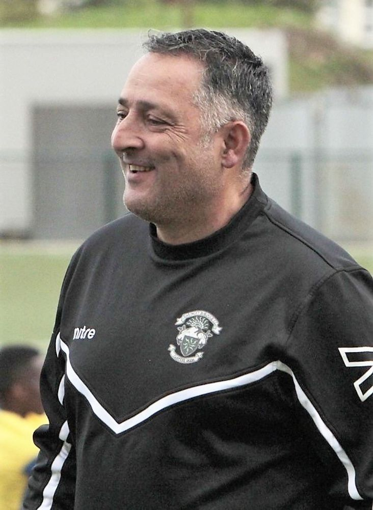 Haringey Borough manager and jack-of-all-trades Tom Loizou