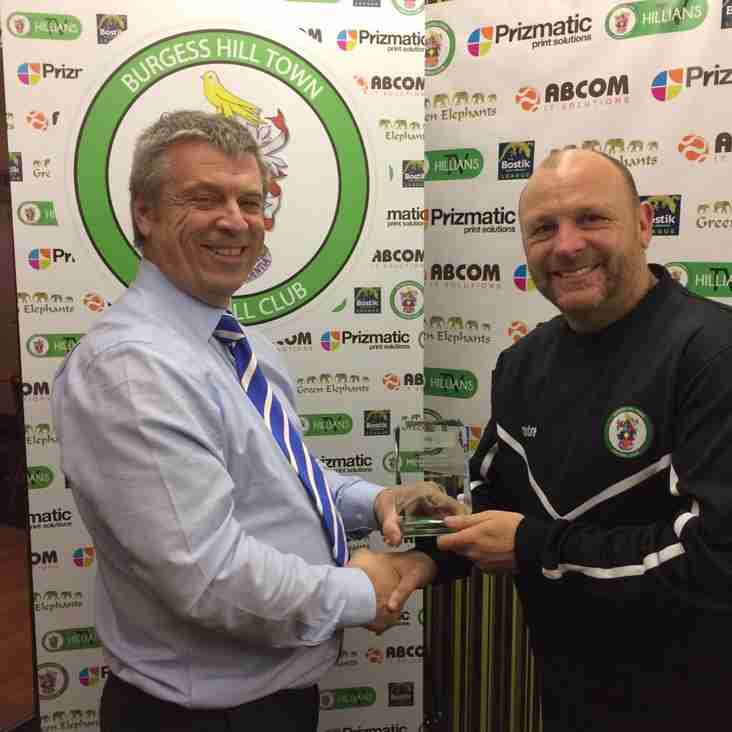 Burgess Hill Town receive betting.net Performance of the Month Award