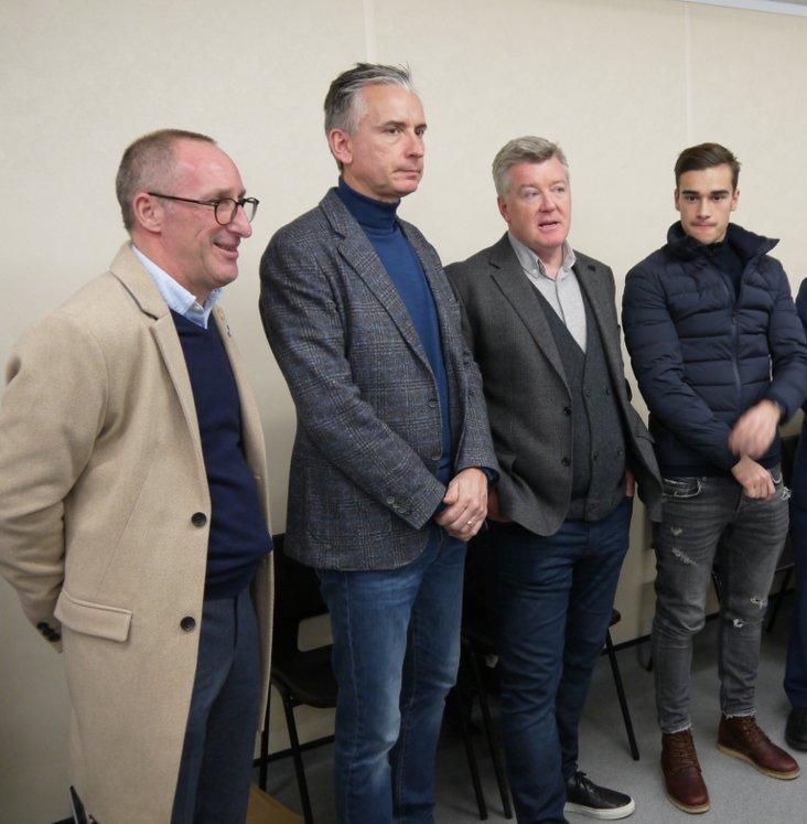 Aron Sharp, Alan Smith, Geoff Shreeves and Harry Winks